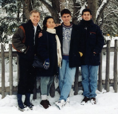 Byron, Sakiko, Barry, and Dennis in Davos